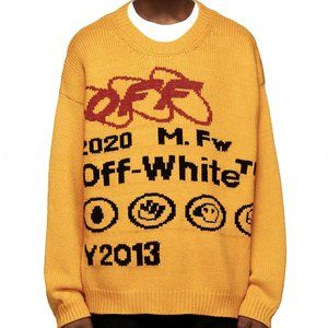 Off-White 'Industrial Y013 Knit' Crewneck Yellow